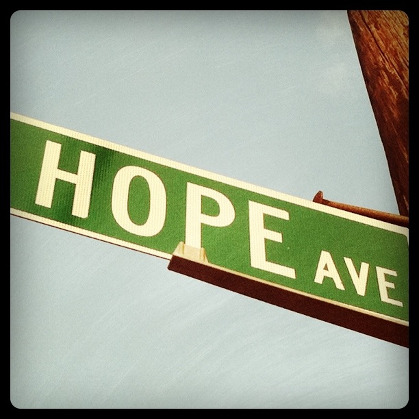 We could all use a little hope.  Those visiting Children's Hospital in Waltham take a drive down it.