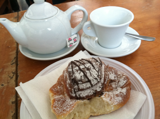 Yes, folks. That's a Nutella filled croissant. The Nutella makes it nutritious. Haven't you seen those commercials?