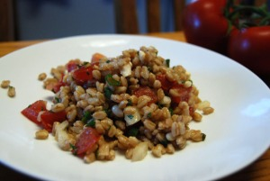 Tuscan Farro Salad with Mint and Pine Nuts