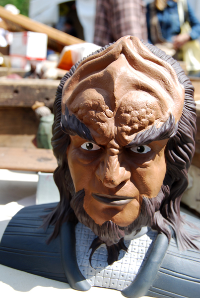 IIt's a Klingon head! I bet you didn't know I was a total dork, did you?