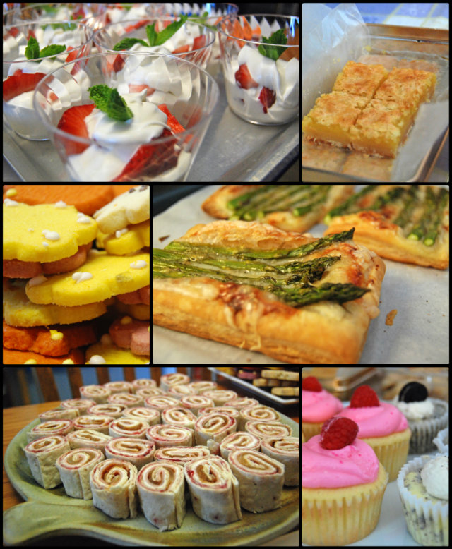 So much pretty, pretty food.  Who could resist?