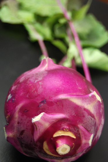 Kohlrabi! Officially the world's most photogenic vegetable!