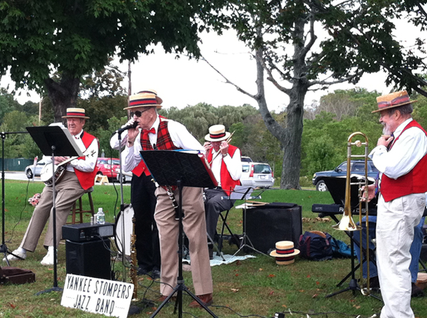 The world's most awesome old man jazz band waiting for you at the end...