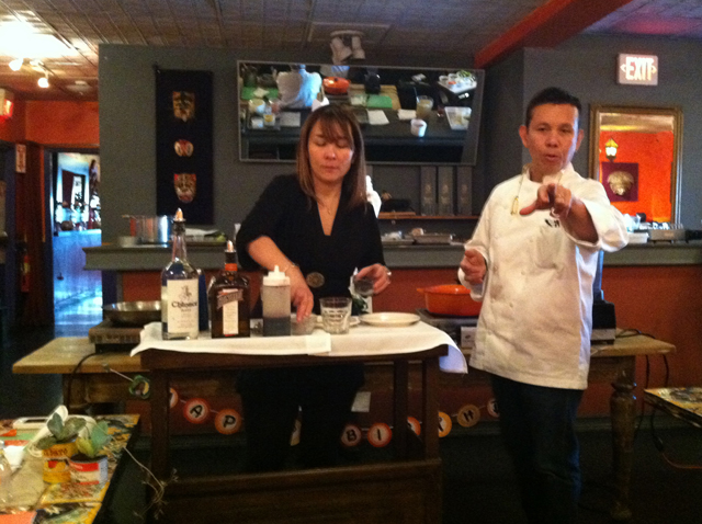 I'm pretty sure Chef Ramos is pointing at me to say that the birthday girl gets the first margarita.  There was a lot of that going on...