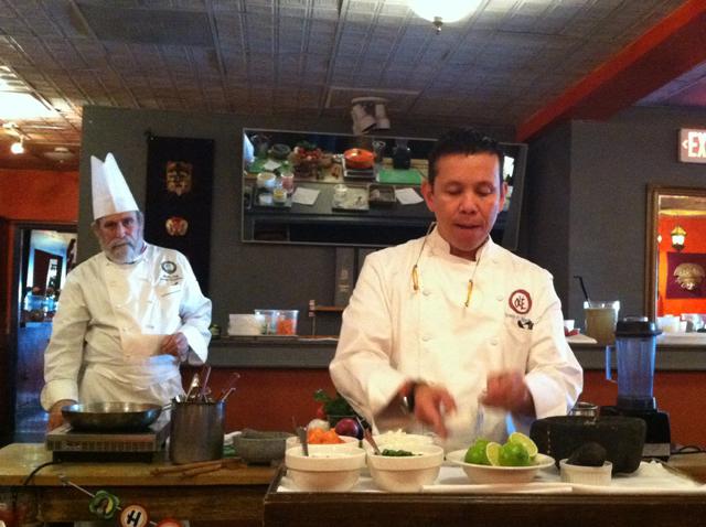 Chef Erwin Ramos making amazing guacamole.