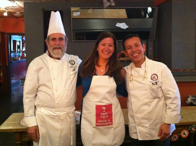 """Me and """"my"""" chefs!"""