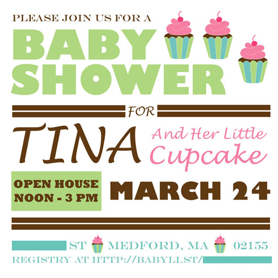 Ahhh...Tina's little cupcake.  Are you catching on to our theme yet?