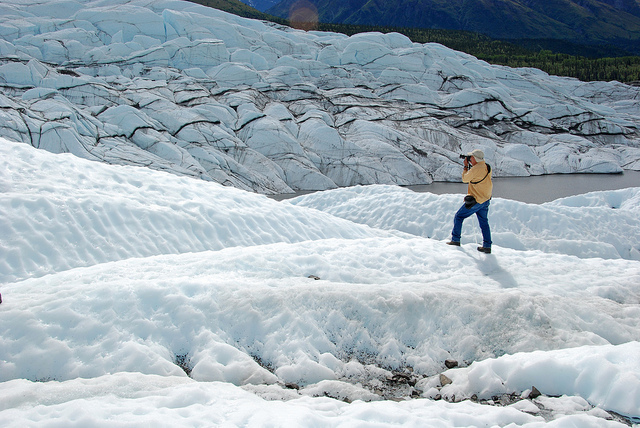That's my daddy...on a glacier.  Yes, we all hiked on a glacier.  Try doing that in Massachusetts!