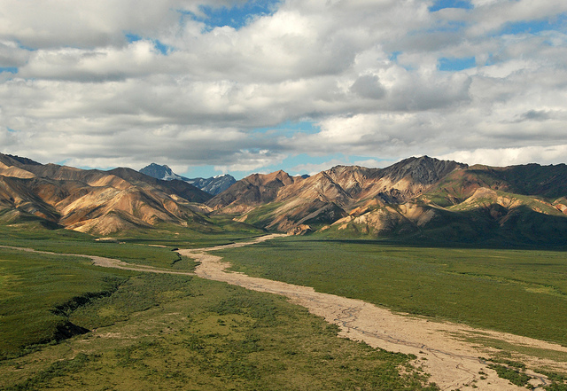 The many colors of Polychrome Pass in Denali National Park.